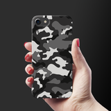 Black Abstract Camouflage Cover Case For iPhone 7/8