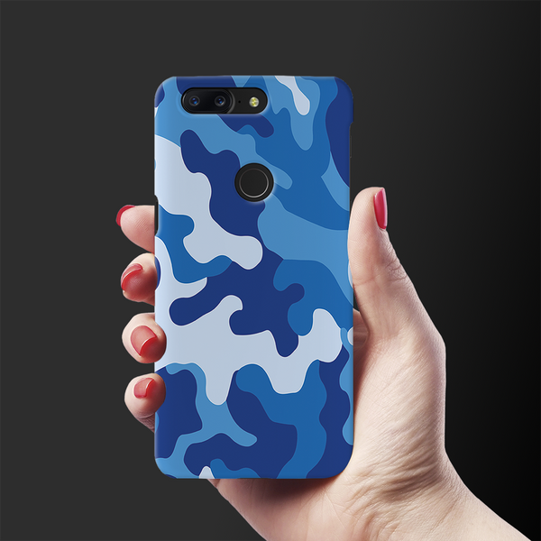 Blue Abstract Camouflage Cover Case For OnePlus 5T