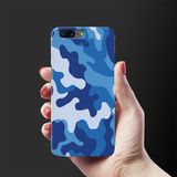 Blue Abstract Camouflage Cover Case For OnePlus 5