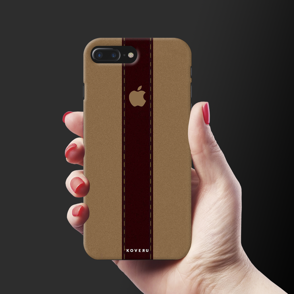 Dairy Cream And Brown Bramble Stripes Cover Case for iPhone