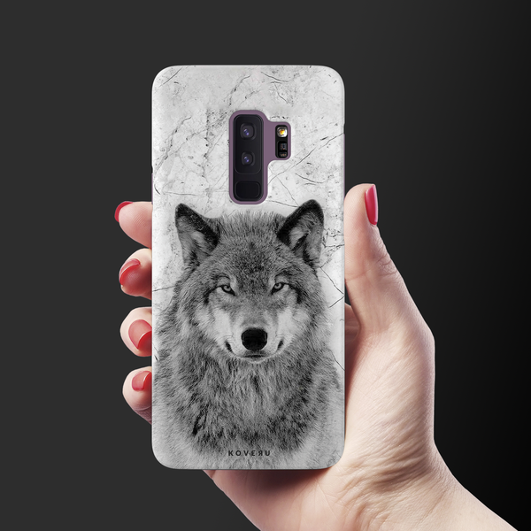 Wolf Marble Cover Case for Samsung Galaxy S9 Plus