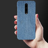Denim Jeans Texture Cover Case for OnePlus 7 Pro