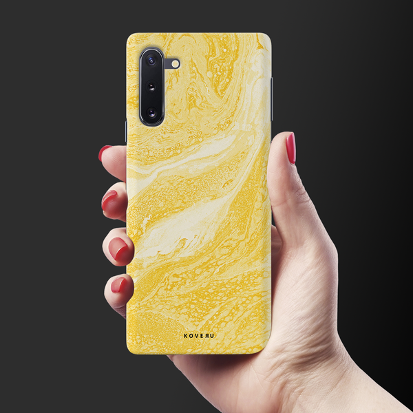 Yellow Snake Skin Cover Case for Samsung Galaxy Note 10