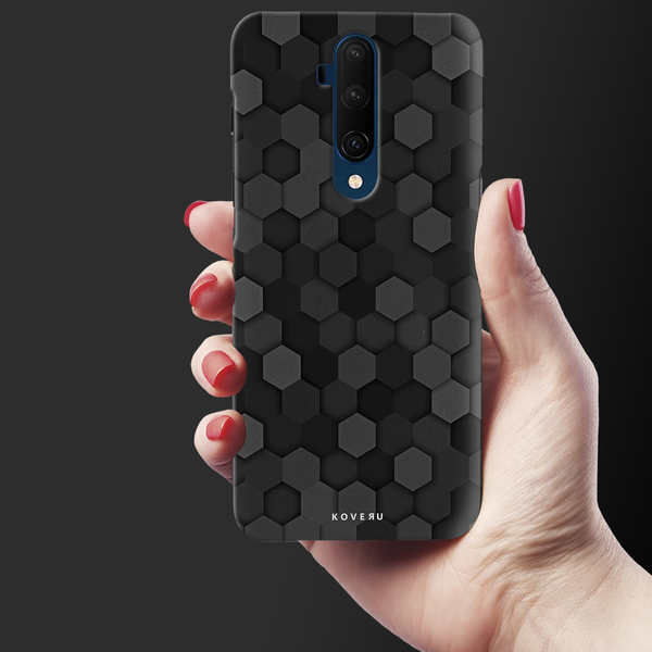 Hexagon Pattern Cover Case for OnePlus 7T Pro