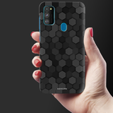 Hexagon Pattern Cover Case for Samsung Galaxy M30S