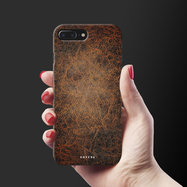 Leather Print Cover Case for iPhone 7/8 Plus