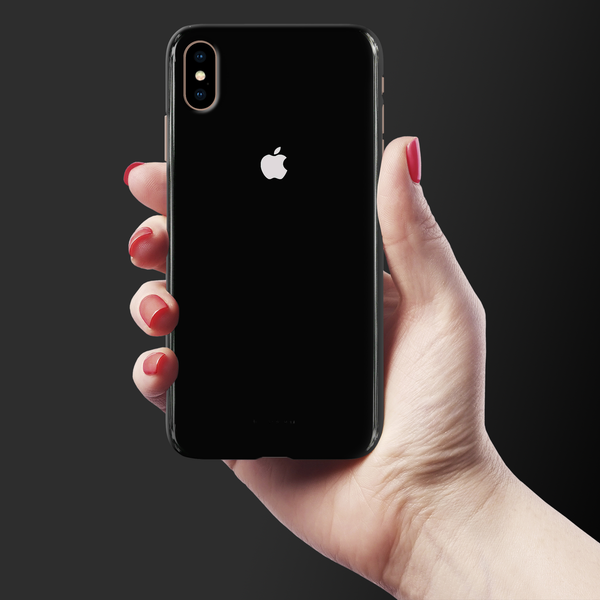 Jet Black Cover Case For iphone XS Max