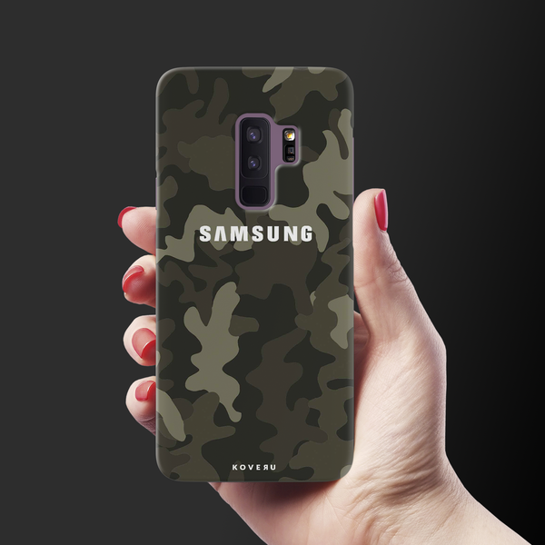 Brown Abstract Camouflage Cover Case For Samsung Galaxy S9 Plus