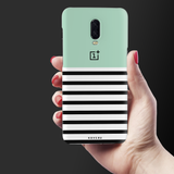 Stripes on Green Cover Case For OnePlus 6T