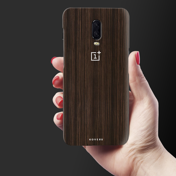 Wooden Texture Back Cover Case For OnePlus 6T