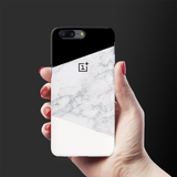 Geometric White Marble Cover Case For OnePlus 5