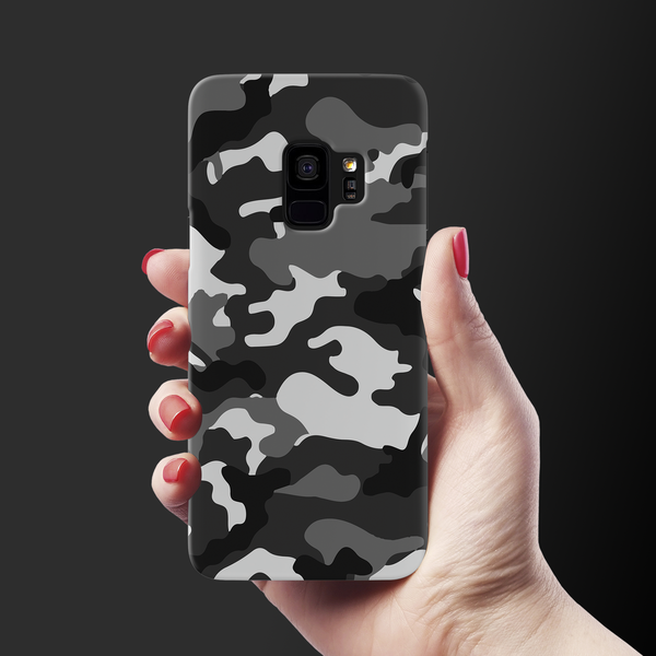 Black Abstract Camouflage Cover Case For Samsung GalaxyS9