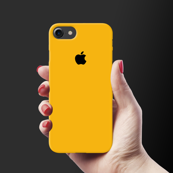 Solid Yellow Cover Case For iPhone 7/8