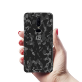 Black Camouflage Cover Case For OnePlus 6