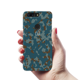 Navy Camouflage Cover Case For OnePlus 5T