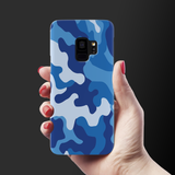 Blue Abstract Camouflage Cover Case For Samsung Galaxy S9