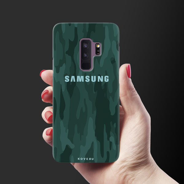 Green Camouflage Cover Case For Samsung Galaxy S9 Plus