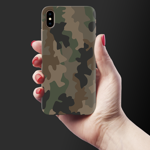 Army Abstract Camouflage  Cover Case for iPhone XS Max