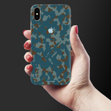 Navy Camouflage Cover Case for iPhone XS Max