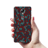 Red Camouflage Back Cover Case For  OnePlus 3/3T