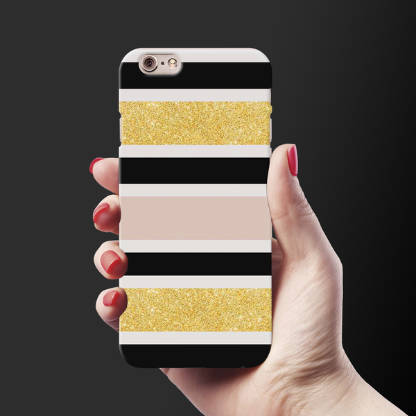 Gold Peach Strips Case Cover for iPhone 6/6S