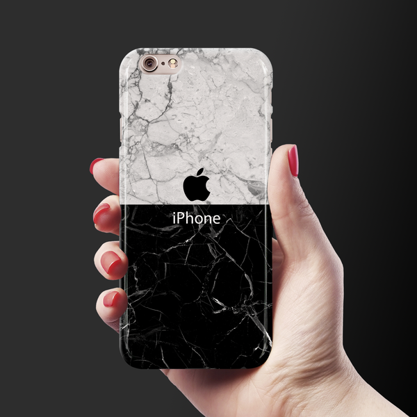 Grey & Black Marble Cover Case For iPhone 6/6S