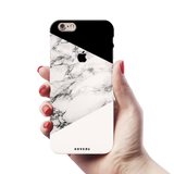 Geometric White Marble Textured Cover Case For iPhone 6/6S