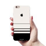 White Horizon Stripes Cover Case For iPhone 6/6S