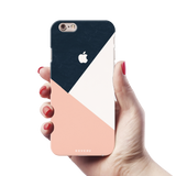 Blue Tricolor Pattern Cover Case For iPhone 6/6S