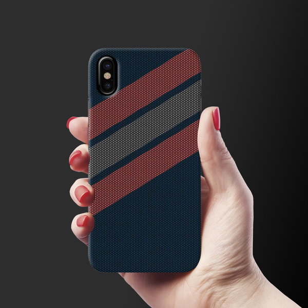 Red Stripes Dots  Cover Case for iPhone X
