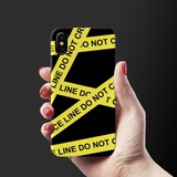 Black Don't Cross Cover Case For iPhone X