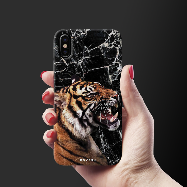 Tiger Marble Cover Case for iPhone X