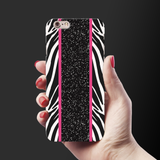White Zebra Pattern Cover Case for iPhone 6/6S