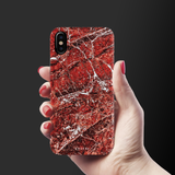 Glazed Marble Cover Case for iPhone X/XS