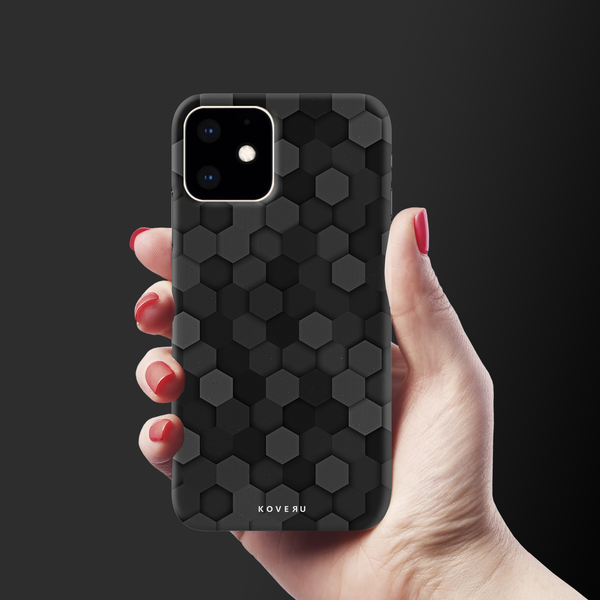 Hexagon Pattern Cover Case for iPhone 11