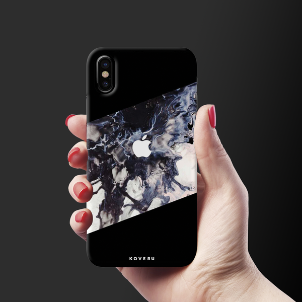 Black Splash Cover Case For iPhone XS