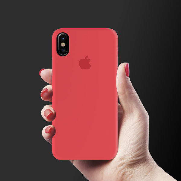 Red Back Cover Case For iPhone X