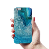 Blue Agate Cover Case for iPhone 6/6S Plus