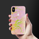 Lovely Pink Marble Cover Case For iPhone X