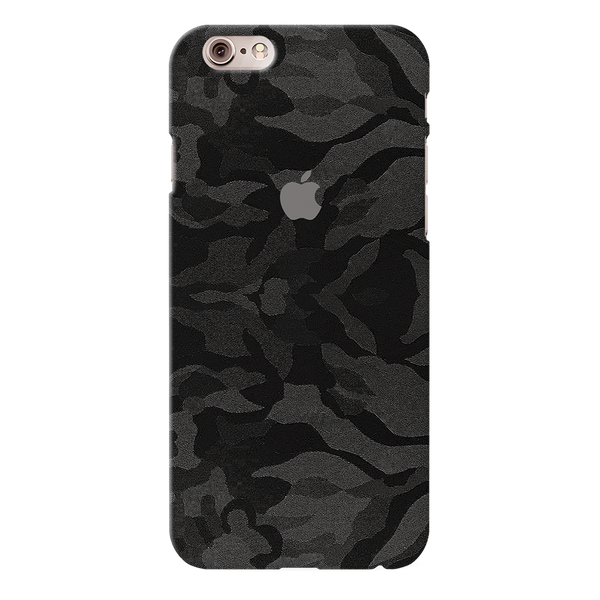 Black Patterned Camouflage Cover Case For iPhone 6/6S