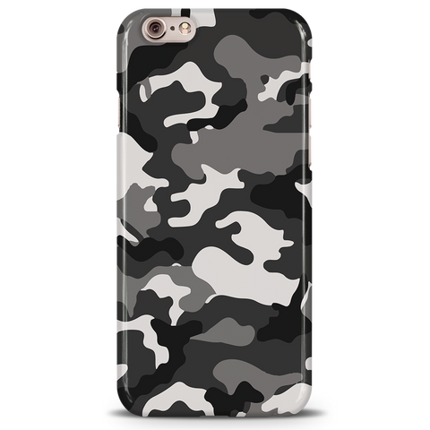 Black Abstract Camouflage Cover Case For iPhone 6/6S