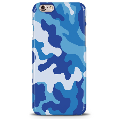 Blue Abstract Camouflage Cover Case For iPhone 6/6S