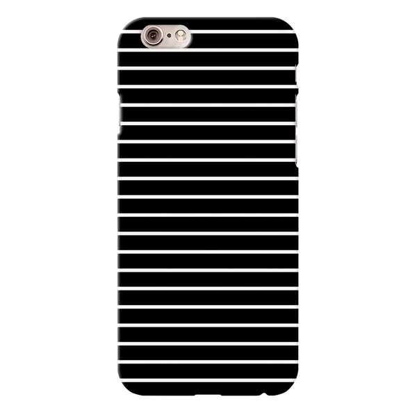 White Stripes On Black Cover Case For iPhone 6/6S