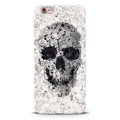 Skull Doodle Cover Case For iPhone 6/6S