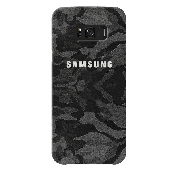 Black Patterned Camouflage Cover Case For Samsung Galaxy S8