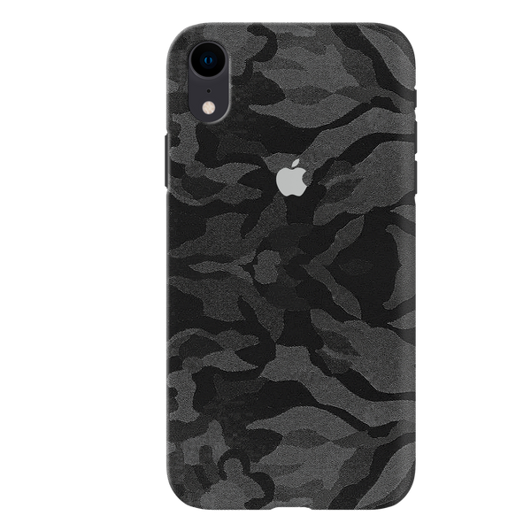 Black Patterned Camouflage Cover Case For iPhone XR
