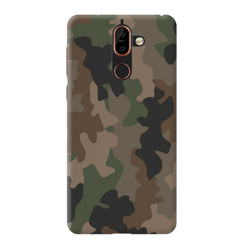 Army Abstract Camouflage Cover Case For Nokia 7 Plus