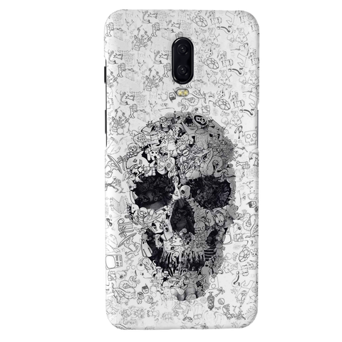 Skull Doodle Cover Case For OnePlus 6T