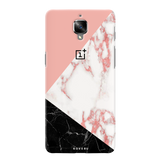 Peach Geometric Marble Cover Case For OnePlus 3/3T