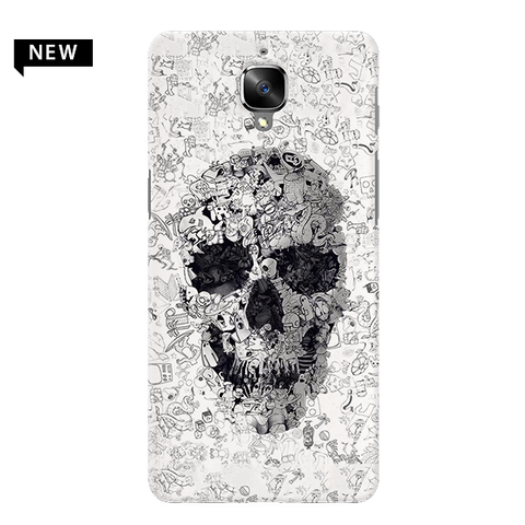 Skull Doodle Cover Case For OnePlus 3/3T